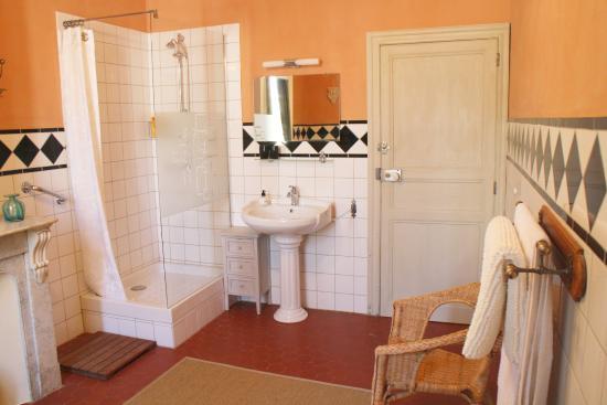 Autignac, Francja: Private bathroom for Front bedroom