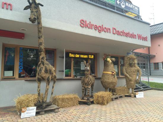 Sporthotel Dachstein West: Sífelvonó és a szalmabábuk