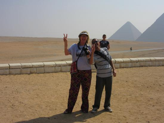 Real Life Egypt - Day Tours: Ahmed and myself at the pyramids