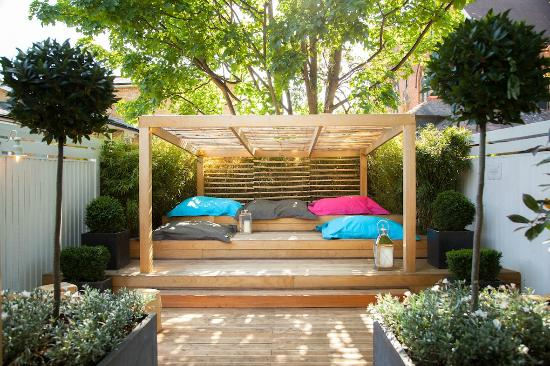 New seating area in the back garden - Picture of The ... on Back Garden Seating Area Ideas id=57199
