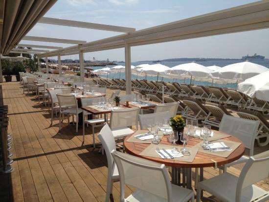 Plage belle plage cannes restaurant avis num ro de for Meilleur resto cannes