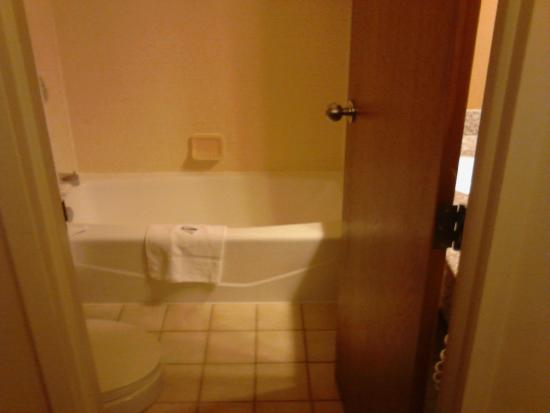 Clarion Hotel Airport: Room 137: Can hardly close bathroom door when inside