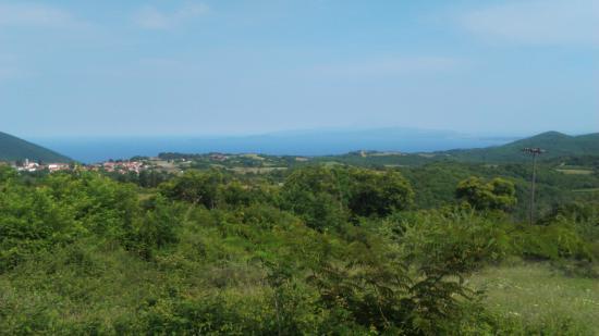 Aristotle Park: Вид из Aristotel Park на гору Афон