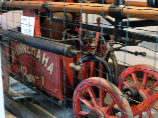 Boothbay Railway Village: old fire apperatise