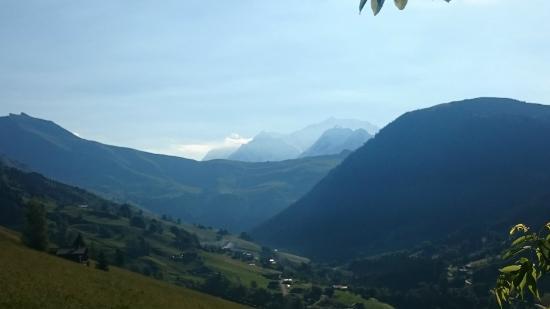 La Ferme du Chozal : vue du mont-blanc