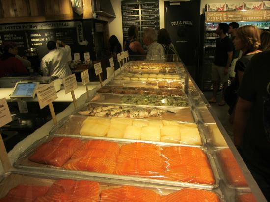 Seafood picture of chelsea market new york city for Fresh fish market houston
