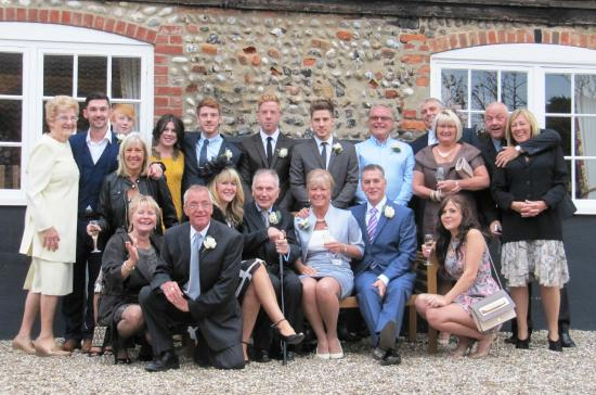 Cley Windmill: The whole Wedding party