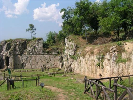 Naousa, Grèce : Γενική άποψη του χώρου της Σχολής