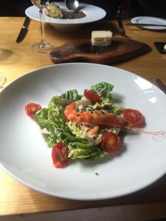 Bildeston, UK: Prawn salad