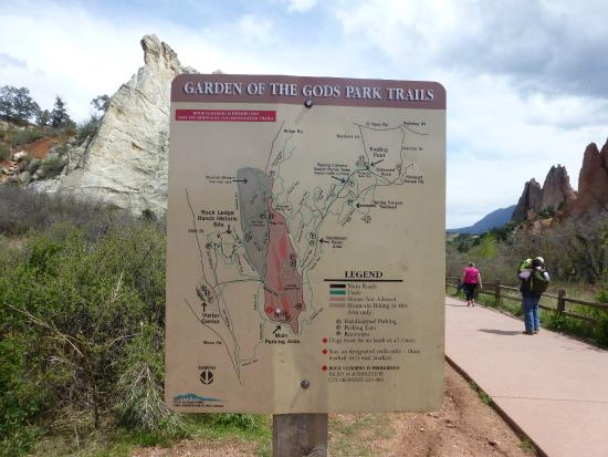 garden of the gods trail map - Garden Of The Gods Map