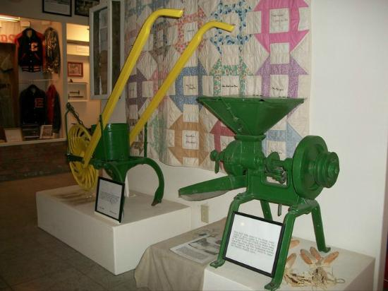 Enloe, TX: Clara Foster Slough Museum exhibits Delta County area farm implements.