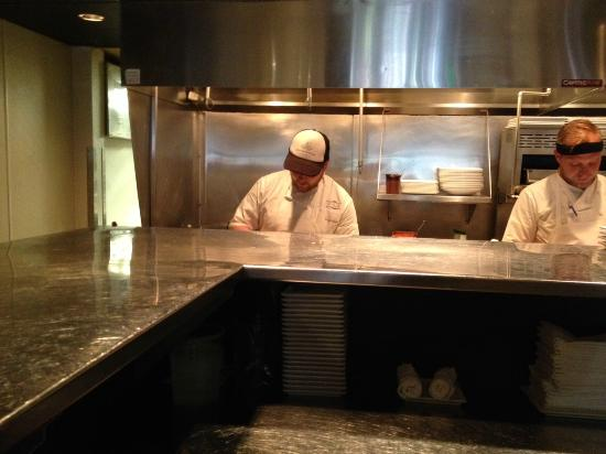 View of kitchen from chefs table picture of rioja denver rioja view of kitchen from chefs table workwithnaturefo