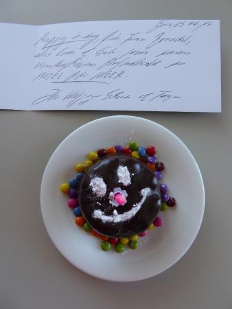 Hotel Am Meer: Die nette Geburtstagsgeste der Inhaber Herr und Frau Schewe.