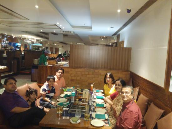 Barbeque Nation : All of us - yours truly on far left