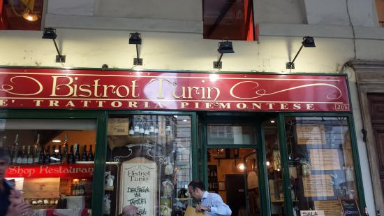 Bistrot Turin : INSEGNA DEL LOCALE IN STILE TORINESE.