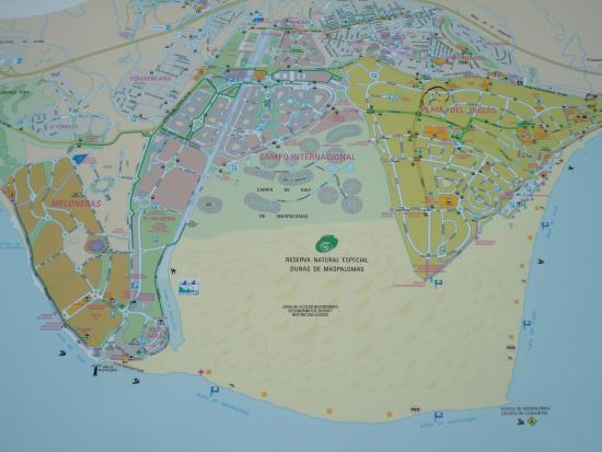 Mapa spaceru Picture of Dunas de Maspalomas Playa del Ingles