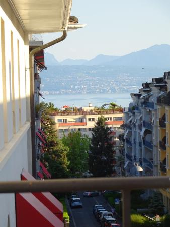 View from balcony picture of carlton lausanne boutique for Boutique hotel suisse