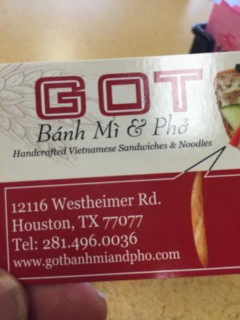 GOT Banh Mi & Pho?