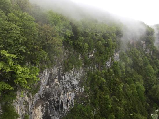 Zeda Gordi, Georgia: Okatse Kanyon we mgle