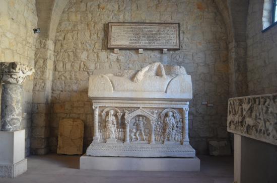 Archaeological Museum Split: View from the museum's lapidarium