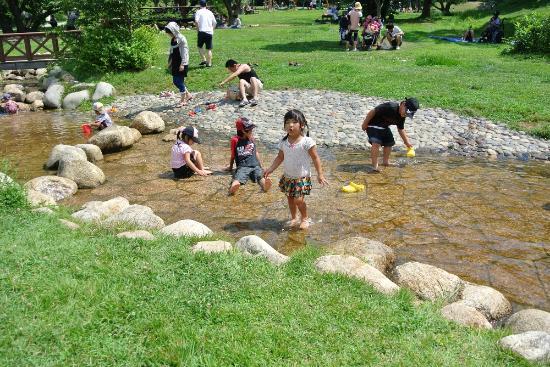 Matsumoto Alps Park : 夏は水場も
