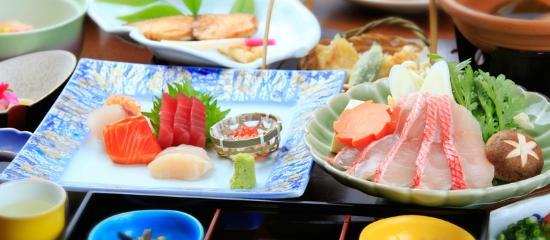 Izuajiro Onsen Shofuen: 【お料理】金目鯛のしゃぶしゃぶコース(ご夕食イメージ)