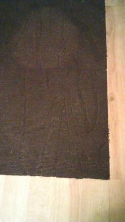 Animal hair and dirt on rug