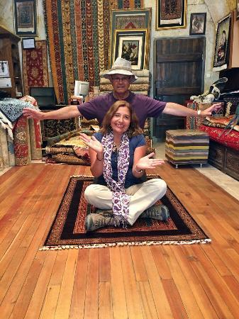 Happy Customers on a magic carpet ride