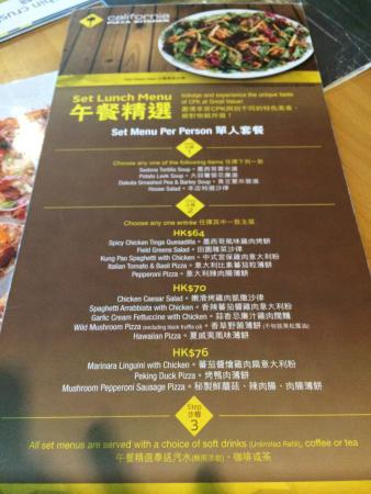California Pizza Kitchen Drink Menu california pizza kitchen, hong kong - 38 wang chiu rd, kwun tong