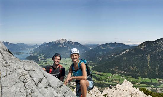 Klettersteig Katrin : Katrin m via klettersteig b c wolfs berge iii