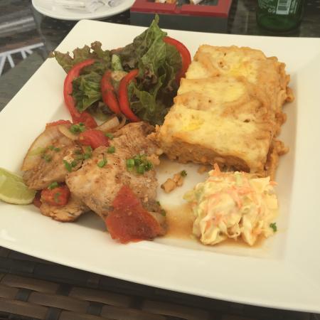 Holetown, Barbados: My yummy lunch