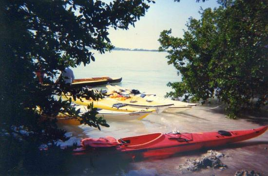 Indian Key State Historic Site: kayaks beached at Indian Key