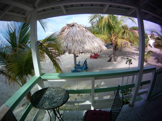 The Village Inn: porch and palapa