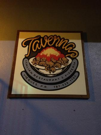Taverna: love the sign!!!