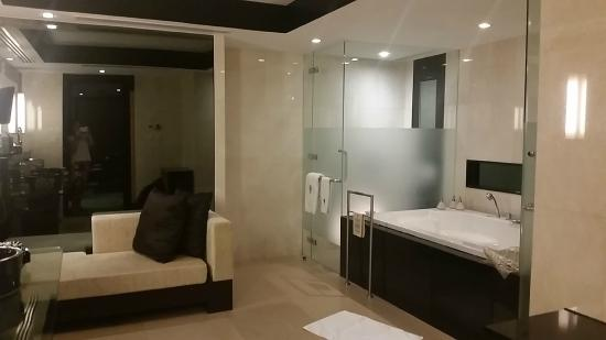 Banyan Tree Bangkok: The Master Bedroom Had A Roman Bathtub, Shower, Toilet  Stall