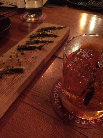 Central Provisions: Negroni and Boquerons