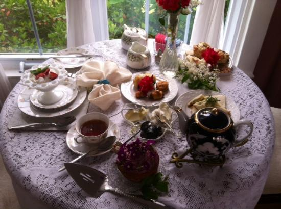 1848 Island Manor House : Afternoon Tea. Picture doesn't capture how delectable and beatiful this spread was.