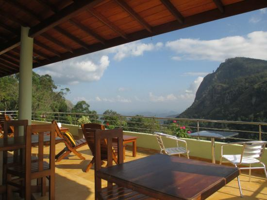 Terrace with view of Ella Gap.