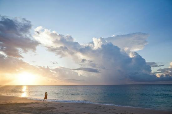 Meads Bay Beach Villas: Sunset on Meads Bay