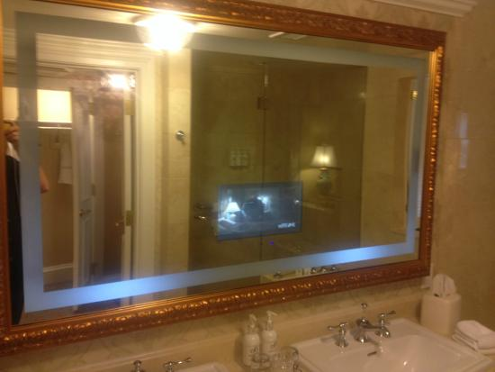 The Broadmoor: TV In The Bathroom Mirror!