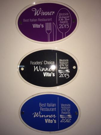 Vito's Italian Restaurant : Our  hardwork  achievements