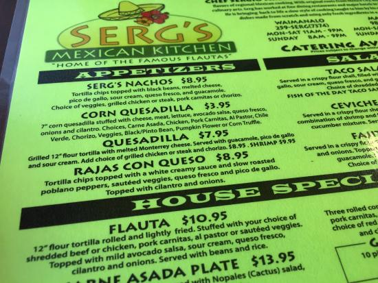 Serg's Mexican Kitchen: Flauta means 'fantastic' in Spanish.