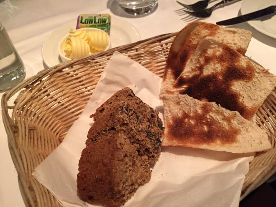 The Lobster Pot: Complimentary bread and butter