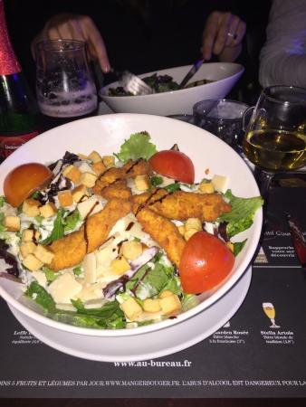 Salade de poulet parmesan picture of au bureau for Bureau franconville