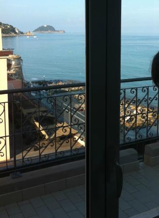 Hotel Savoia: ...vista Isola Gallinara!
