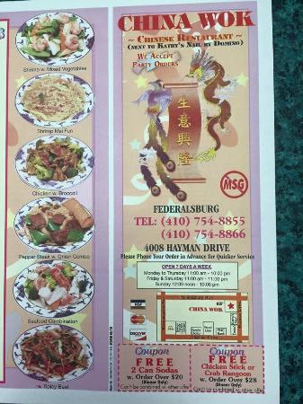 Federalsburg, แมรี่แลนด์: Full menu