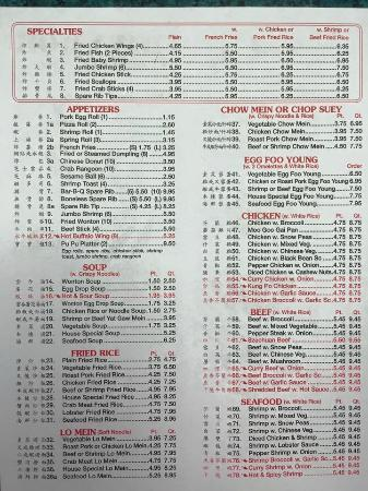 Federalsburg, MD: Full menu