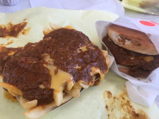 Chili Cheese Fries And A 1 4 Cheeseburger Picture Of Original Tommy S Chino Tripadvisor