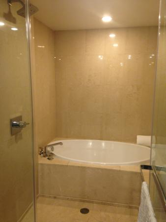 Soaking tubshower combo Picture of ARIA Resort Casino Las