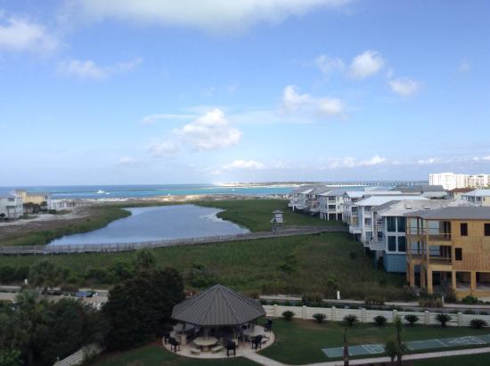 The Islander: View from balcony facing Okaloosa Island.